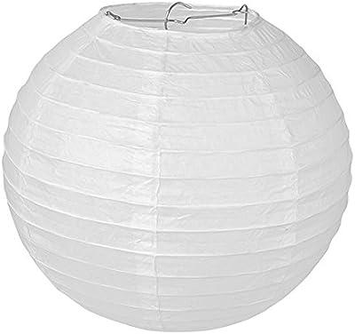 6716-W - Lámpara de techo de papel, 40 cm, color blanco ...
