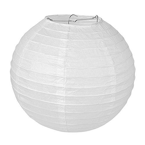 pajoma papieren lamp lantaarn lampion wit 10 stuks voor feestjes bruiloft decoratie (42 cm x 42 cm)