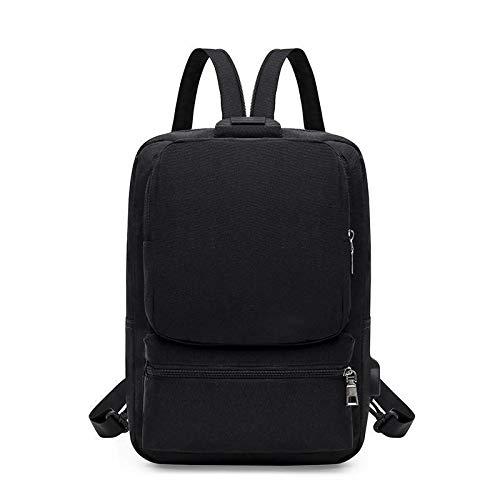 Wdonddonbb Moda Zaino Uomini Zaino Multifunzione in Tessuto Oxford di Usura Backbag Pacco Petto Casuale Sling Shoulder Bag Bagpack (Color : Black)
