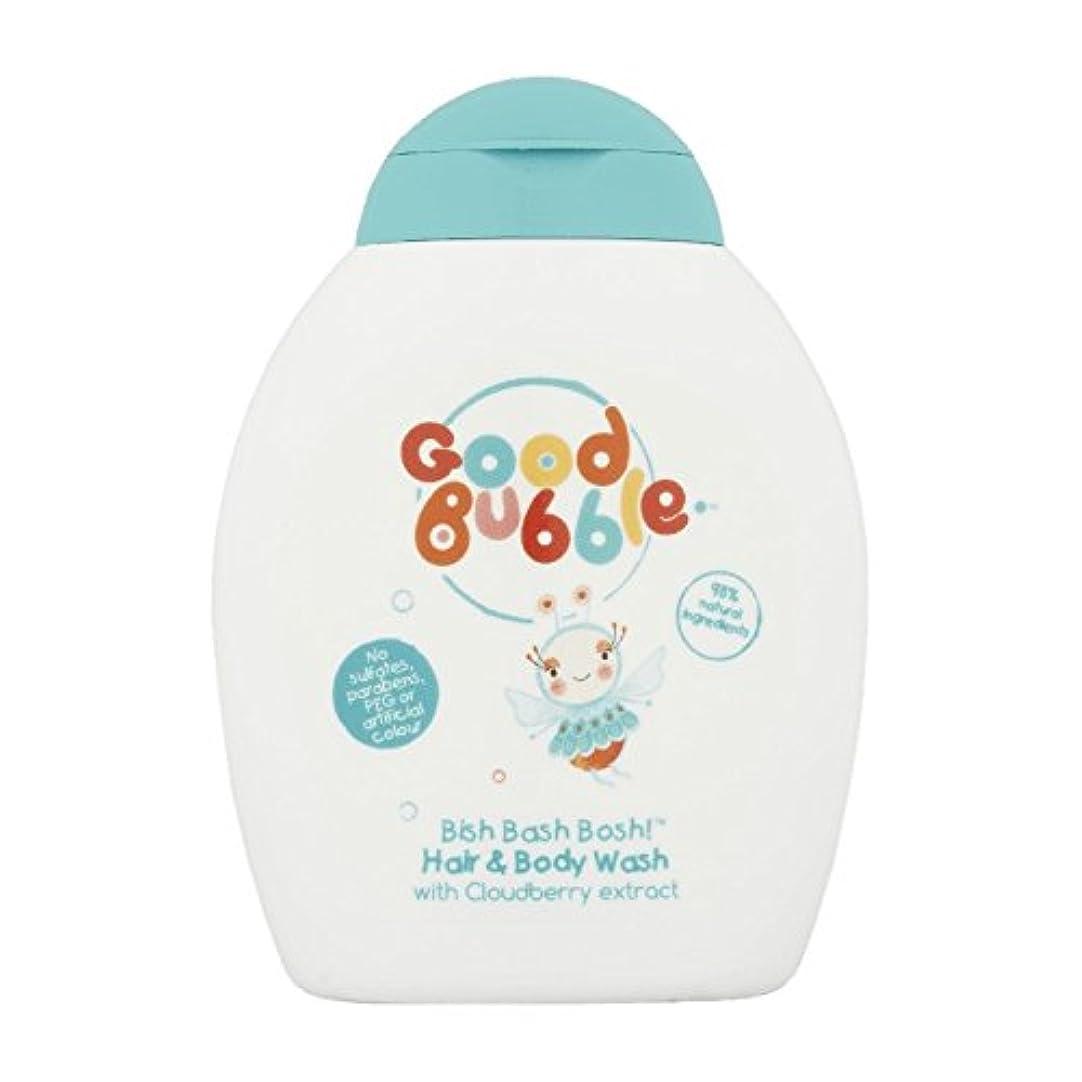 臭いのために返還Good Bubble Cloudberry Hair & Body Wash 250ml (Pack of 6) - 良いバブルクラウドベリーヘア&ボディウォッシュ250ミリリットル (x6) [並行輸入品]