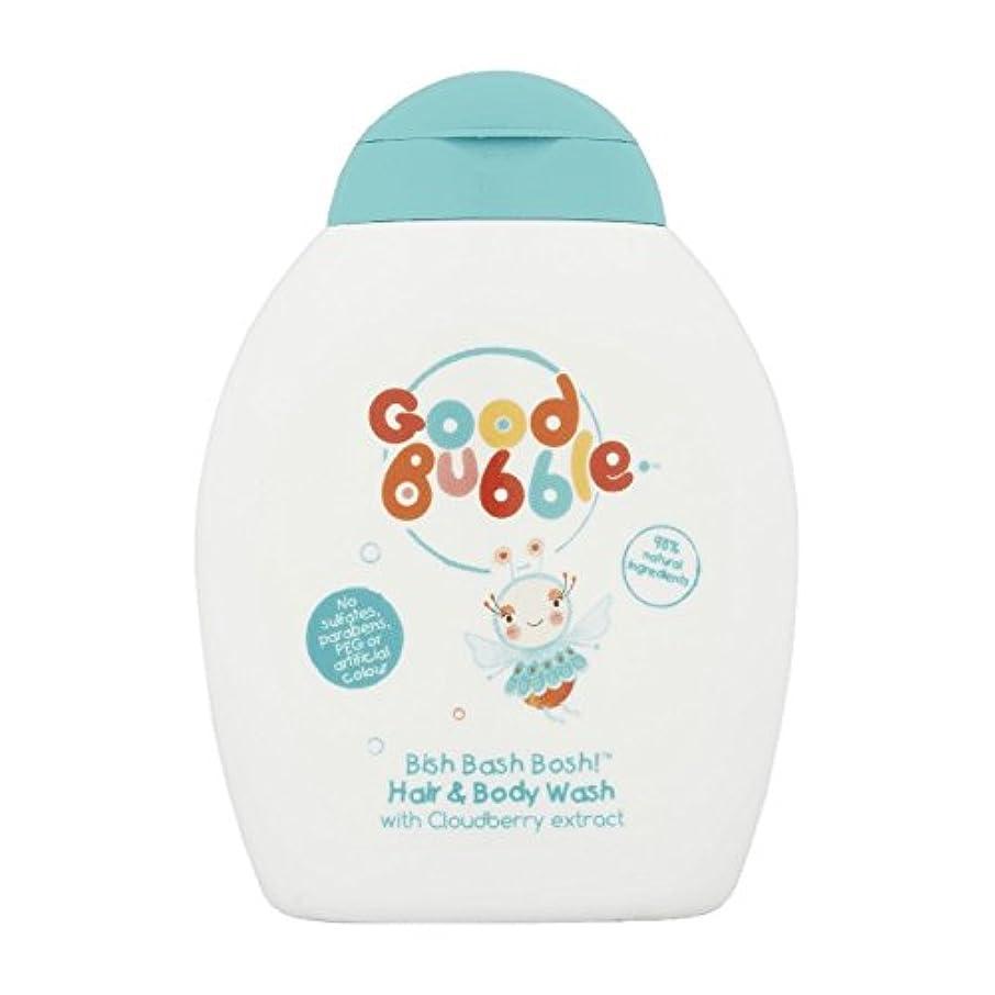 安西子羊であるGood Bubble Cloudberry Hair & Body Wash 250ml (Pack of 6) - 良いバブルクラウドベリーヘア&ボディウォッシュ250ミリリットル (x6) [並行輸入品]