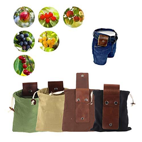 Canvas Bushcraft Tasche Mit Lederbezug & Schnalle Faltbare Hochleistungs-Werkzeugtasche Mit...