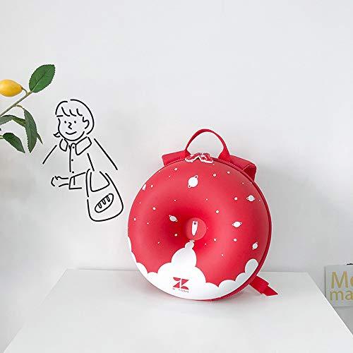 Hombres y mujeres donas lindas mochilas para niños mochilas escolares de jardín de infantes bolsas redondas creativas de cáscara de huevo para niños mochilas escolares para niños hombros anti-perdidos