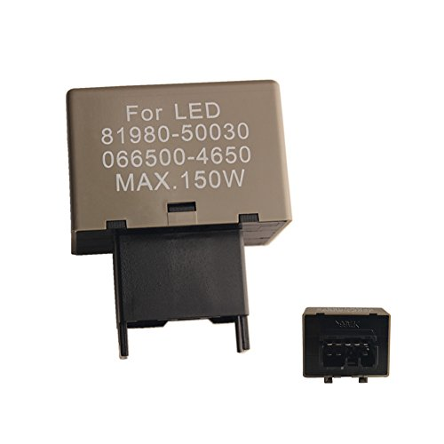 DEWHEL 8-Pin 81980-50030 066500-4650 Electronic LED Flasher Assy Relay Fix For Lexus Scion or Toyota LED Turn Signal Light Bulbs
