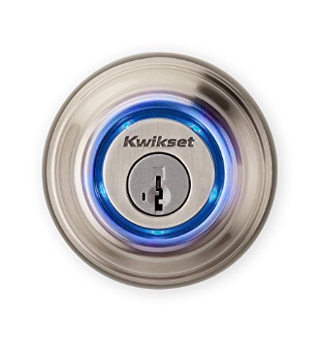 Kwikset - Kevo 99250-202 Kevo 2nd Gen Bluetooth Touch-to-Open Smart Keyless Entry Electronic Deadbolt Door Lock Featuring SmartKey Security, Satin Nickel