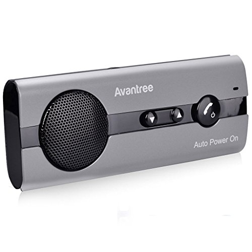 Avantree 10BS AUTO POWER ON Bluetooth - Manos Libres para Coche Kit con Sensor de Movimiento Integrado, Manos Libres Inalámbrico de Coche con altavoz
