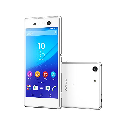 Sony Xperia M5 E5653 16GB 5-inch 4G LTE Factory Unlocked (WHITE) - International Stock No Warranty