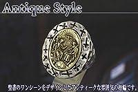 fr033017号 指輪 キリスト 神 アンティーク調 シルバーリング 925 メンズリング sv925
