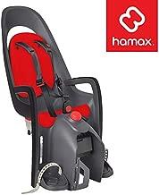 Hamax Caress Rear Child Bike Seat, Ultra-Shock Absorbing Rack Mount, Adjustable to Fit Kids (Baby Through Toddler) 9 mo - 48.5 lb. (Grey/Red)