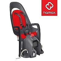 Hamax Caress Asiento de bicicleta para niños, marco de absorción de impactos o soporte trasero de rack, ajustable para adaptarse a niños (bebé a través de bebé) 9 mo - 48.5 lb. 35 años de marca europea ganadora de premios.
