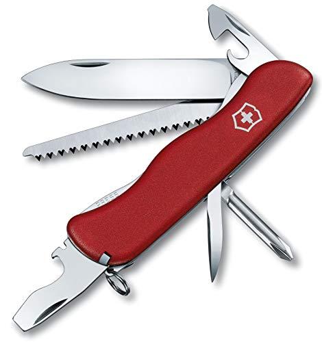 Victorinox Taschenmesser Trailmaster (12 Funktionen, Grosse Feststellklinge, Holzsäge) rot