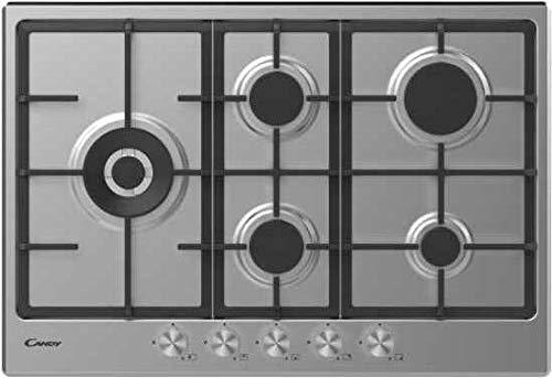 Candy | CHG7WLWPX Plaque de cuisson à gaz de 75 cm 5 feux inox