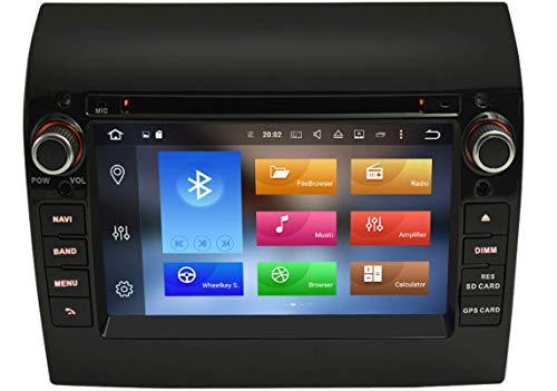 Sunshine Fly 7 Pulgadas Android 8.0 Quad Core 1024 * 600 Pantalla táctil capacitiva 2 DIN DVD Navi Auto Radio GPS estéreo para Fiat Ducato 2008-2015 Audio Player Bluetooth FM Am Hotspot WiFi 3G SWC