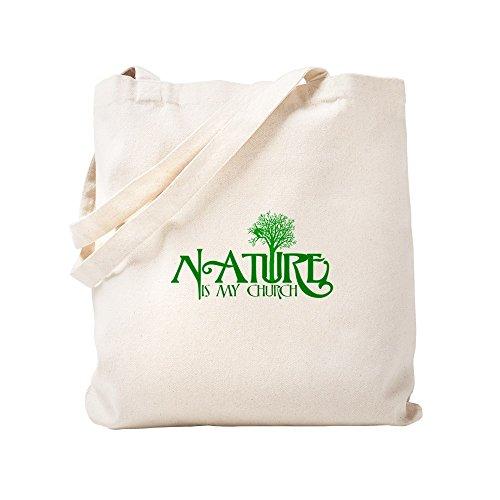 CafePress–Nature is my church–Leinwand Natur Tasche, Reinigungstuch Einkaufstasche Tote S khaki