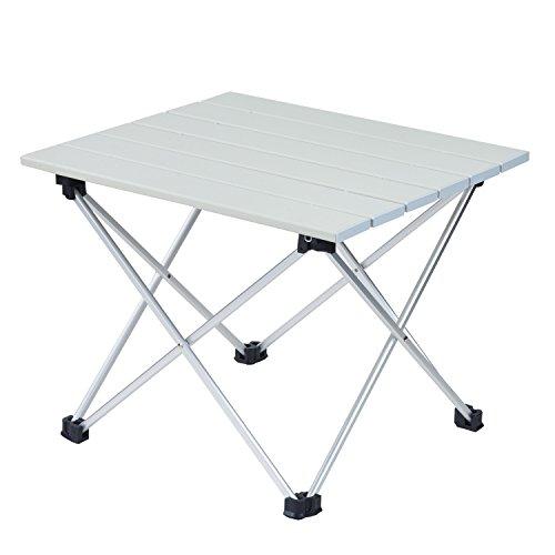 Movaty Campingtisch Klappbar aus Aluminium Ultra Leichte Klapptisch für Camping im Freien Picknick Angeln, 56 * 41 * 40 cm