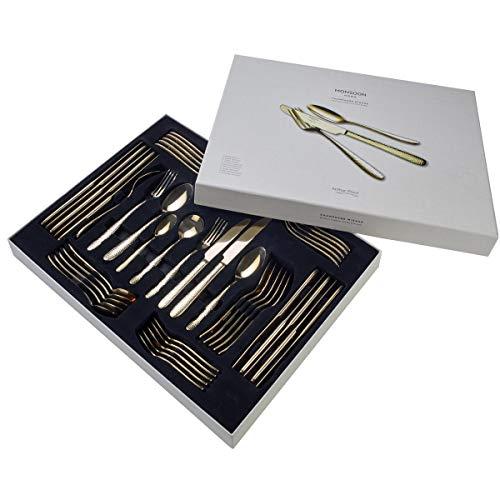 Arthur Price CMIR4411 Champagne Mirage-Set di Posate per 6 Persone, 44 Pezzi, Acciaio Inossidabile