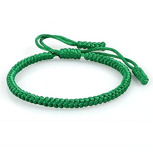 Marekyhm -uk - Pulsera de alambre verde para hombre y mujer tejida a mano con capa de cuerda de la suerte, pulsera unisex (color metálico: estilo 2)