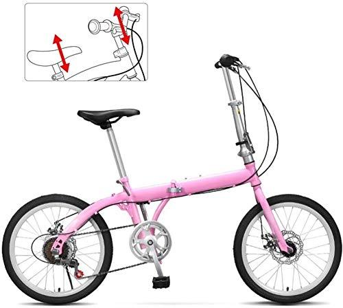 HFFFHA Folding Bike for Le Signore e Gli Uomini - 20' Fold Up Sospensione City Bike Leggero Full Cycle, delle Donne degli Uomini Mountain Bike, Doppio Freno a Disco (Color : B)