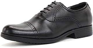 [デデス] ZINC ジンク 内羽根 ストレートチップ クォーターブローグ ビジネスシューズ 紳士靴 本革 日本製 26.5cm 43サイズ ブラック 6001-BK-43