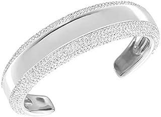 Swarovski Women Rhodium Plated Metal and Crystals Cuff Bracelet, 2.215 inch - 5113522