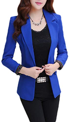 Generic Women's Fashion Notched Lapel Blazer 1 Button