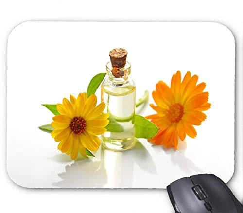 Blumen gelbes Glas Mauspad