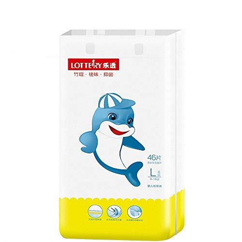 Miarui Bebé Gentle Touch Ultra Pañales absorbentes pañales Desechables para bebés Eco-Friendly bambú biodegradables pañales para bebés para bebés,S