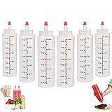 Squeeze Bottle, 6 Pcs 250ml Botella de Salsa, Dispensador de Botellas de...