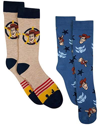 Disney Pixar Toy Story Woody Bullseye Herren-Socken, 2 Stück