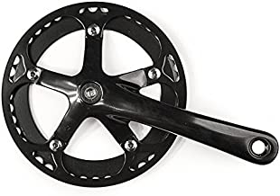 Handsome Cycles Single Speed Alloy Crankset with Chainring Guard 9/16