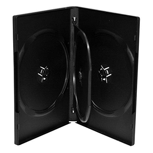 MediaRange DVD-Leerhülle für 4 Discs, 14mm, schwarz, 50 Stück