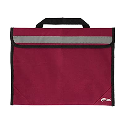 Tiger MSA63-MD Sheet Music Bag - School Book Bag with Reflective Strip - Red
