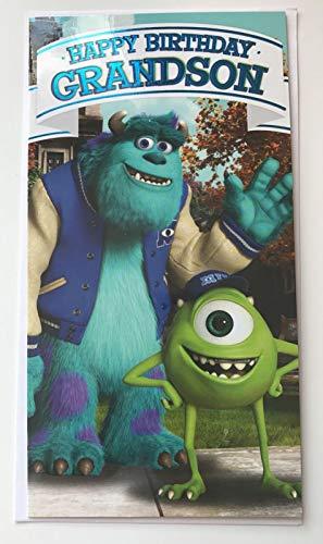 Monsters University - Grandson Birthday Card