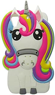 Desire 626 Case, Anya 3D Cute Lovely Cartoon Animal Series Style Rainbow Unicorn Horse Soft Rubber Silicone Back Shell Case Cover for HTC Desire 626 / 626s White Colorful