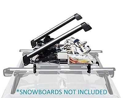 Car Racks & Carriers Ski/Snowboard Rack SnowMax Fit 6 Pair Skis or 4 Snowboards