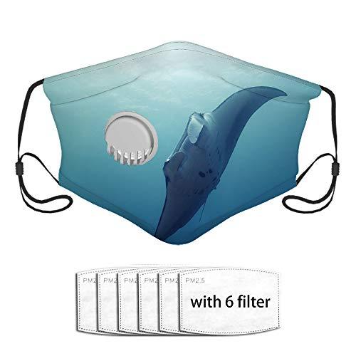Qefgjbw Cat Swim Underwater Fish Sport Outdoor Bocca Cover con 6 fogli filtranti, valvola di respirazione di protezione riutilizzabile lavabile