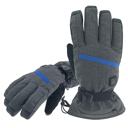 Aroma Season Rechargeable Battery Heated Gloves for Men and Women, Battery Powered Winter Gloves...