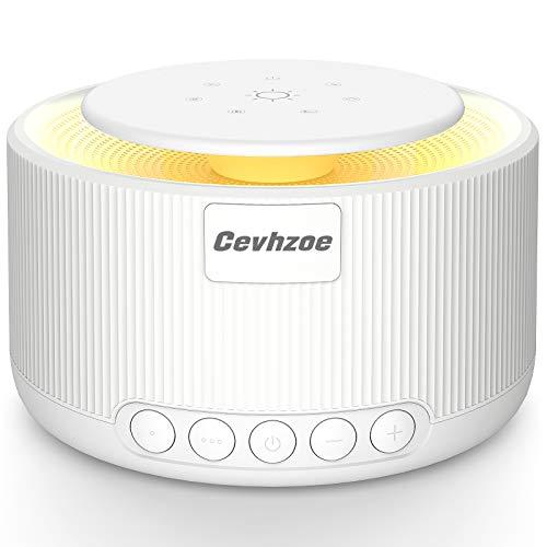 Machine à bruit blanc Cevhzoe - Aide au sommeil - Machine à bruit blanc - 30 sons apaisants naturels - Fonction minuterie - Thérapie du sommeil portable - Boîte brute naturelle