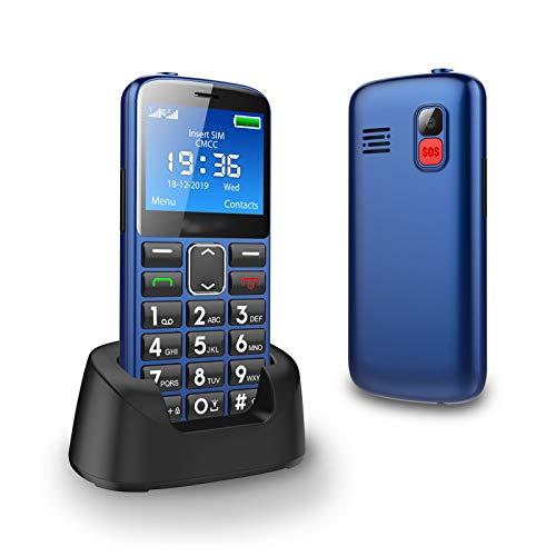 WEUN Teléfono para Personas Mayores con Tapa, Audífonos Compatibles, Teclas Grandes, Cámara, Fácil de Usar Celular para Ancianos con SOS