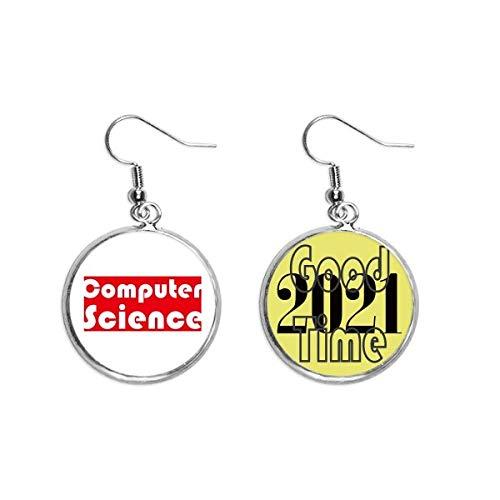Brinco vermelho de ciência da computação Course And Major Jewelry 2021 Good Luck