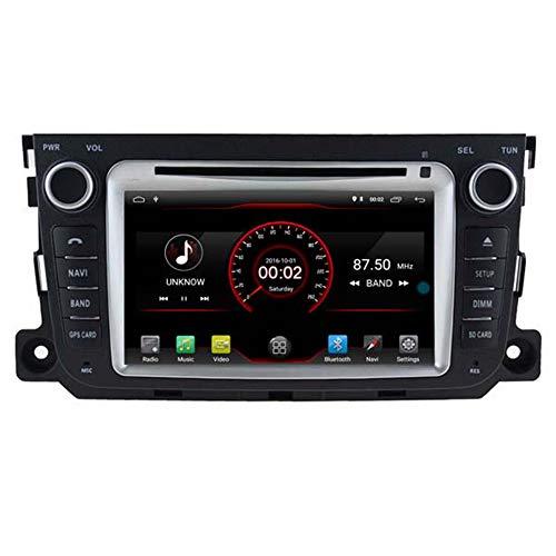 Autosion Android 10 Lecteur DVD de Voiture GPS Stéréo HeadUnit Navi Radio Multimédia WiFi pour Smart Fortwo II W451 2011 2012 2013 2014 Commande au Volant