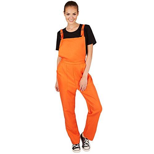 TecTake dressforfun Unisex Latzhose | Kostüm für Handwerker, Gärtner, Bauarbeiter, Neonlook oder auch Bad Tasteverkleidung (Orange | XL | Nr. 301477)