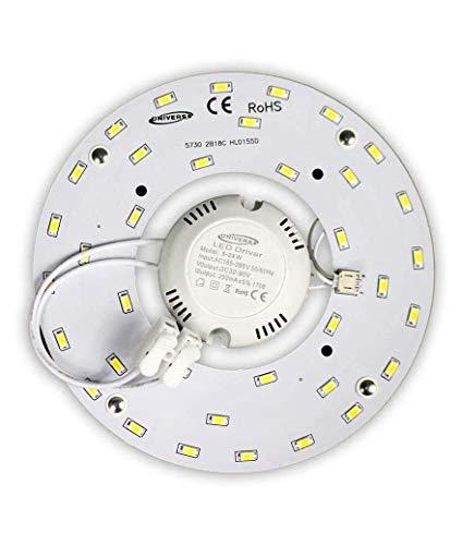 Circulina LED Corona 12 W SMD 5730 módulo de repuesto circular tubo neón para plafones con imán 265 V Ultra Slim Luminoso Blanco cálido