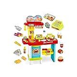 RENJUN Play House Cash Register Toy Boy Girl Baby Cooking Simulación Cocina Inalámbrico Control Remoto Pedido Comida Rápida Restaurante Cajero Set de juguetes educativos para niños