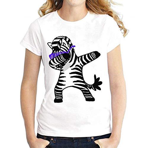 KIRALOVE Camiseta niño - niña - Camiseta - Cebra - 4 años - 100/110 cm - Ropa Infantil