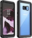 Nineasy Samsung Galaxy S8 Plus Waterproof Case, S8 Plus Case Full Body Protection with Built in Screen Protector Underwater IP68 Shockproof Dustproof Snowproof Case for Galaxy S8 Plus Black