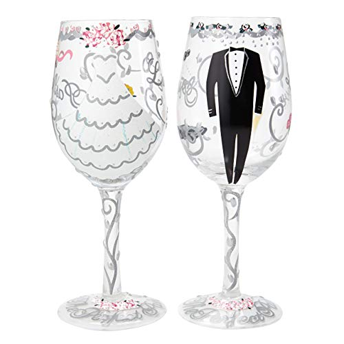 Lolita Bride & Groom Wedding Gift Set, Glas, Mehrfarbig, 8.5 x 8.5 x 22.5 cm
