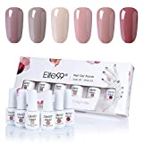 Elite99 Esmaltes Semipermanentes de Uñas en Gel UV LED, 6 Colores Kit de Esmaltes de Uñas Soak off 8ml 002