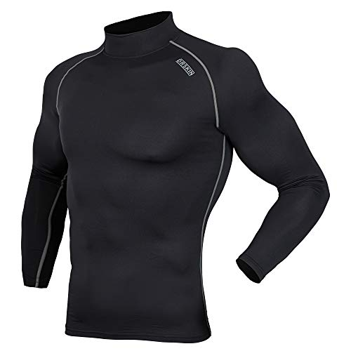 DRSKIN UV Sun Protection Long Sleeve Top Shirts Skins Tee Rash Guard Compression Base Layer UPF 50+ (SB011, XL)
