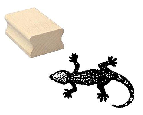 Stempel Holzstempel Motivstempel « EIDECHSE » Scrapbooking - Embossing Kinderstempel Tierstempel Terrarium Reptilien Gecko Salamander